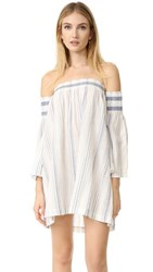Bec And Bridge Woven Tales Dress Ivory Blue