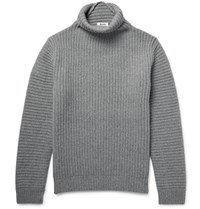 Acne Studios Kalle Ribbed Wool Rollneck Sweater Gray
