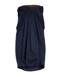 Aquilano Rimondi Short Dresses Dark Blue