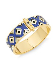 Diane Von Furstenberg All The Glitz Gold Bangle Bracelet Blue