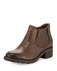 Modern Vintage Jo Metallic Ankle Boot Brown