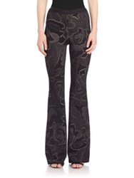 Herve Leger Jacquard Bell Bottom Pants Black