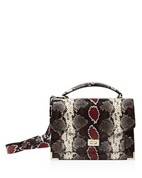 The Kooples Emily Snake Embossed Leather Maxi Crossbody Gray