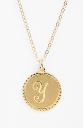 Women's Moon And Lola 'Dalton' Initial Pendant Necklace Gold Y