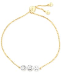 Wrapped Diamond Cluster Slider Bracelet 1 6 Ct. T.W. In 14K Gold Plated Sterling Silver Only At Macy's