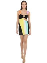 Fausto Puglisi Jersey And Lycra Mini Dress W Cut Outs Array 0X58aea48