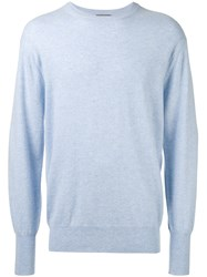 N.Peal Ribbed Trim Sweatshirt Blue