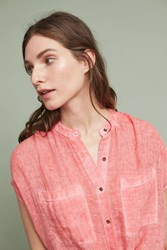 Anthropologie Linen Tunic Red