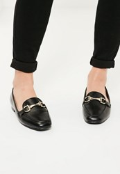 Missguided Black Buckle Detail Loafers