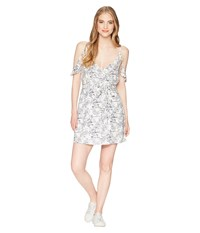 Roxy Currently Drifting Marshmallow Floral Camo Dress White