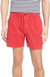 Vintage 1946 Snappers Elastic Waist Shorts Red