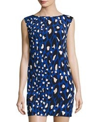 Trina Turk Leopard Print Shift Dress Multi
