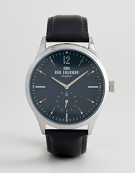 Ben Sherman Wb015ub Leather Watch In Black