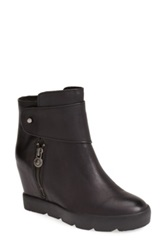 Max Studio 'Zephyr' Hidden Wedge Leather Bootie Women Black