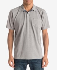 Quiksilver Waterman Men's Textured Stripe Polo Classic Fit Zinc