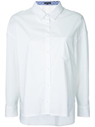 Loveless High Low Hem Shirt Women Cotton Polyester 34 White