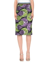 Rose' A Pois Skirts 3 4 Length Skirts Women Acid Green