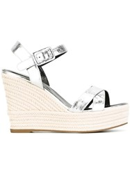 Sergio Rossi Wedged Sandals Metallic