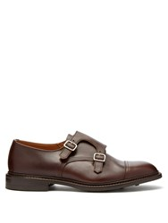 Tricker's Rufus Monk Strap Leather Shoes Brown