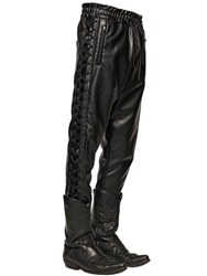 Faith Connexion Lace Up Faux Leather Pants