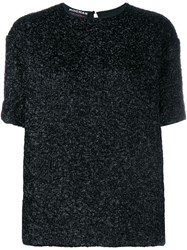 Rochas Textured Short Sleeve Top Black