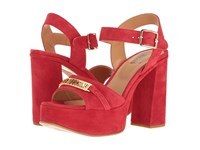 Love Moschino Horse Bit Heel Red High Heels