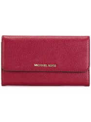 Michael Michael Kors Flap Wallet Red