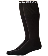 Ariat Over The Calf 2 Pack Socks Black Crew Cut Socks Shoes