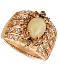 Le Vian Chocolatier Opal 1 1 5 Ct. T.W. And Diamond 1 Ct. T.W. Statement Ring In 14K Rose Gold
