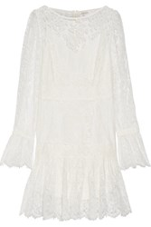 Zimmermann Havoc Pleated Silk And Lace Dress White
