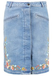 Soaked In Luxury Pixie Denim Skirt Medium Blue Light Blue Denim