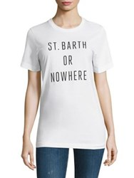 Knowlita St. Barth Or Nowhere Cotton Graphic Tee White Black