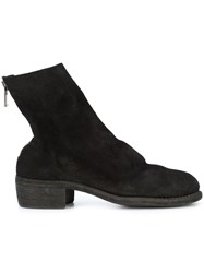 Guidi Rear Zipped Boots Leather Horse Leather Black