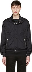 Versus Black Nylon Hooded Jacket
