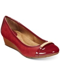 Giani Bernini Ambir Wedges Only At Macy's Women's Shoes Crimson