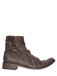 John Varvatos Vintage Effect Leather Boots