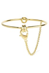 Eddie Borgo Safety Chain Gold Plated Choker One Size