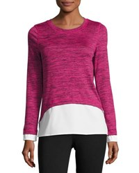 Marc New York Long Sleeve Layered Twofer Top Gray