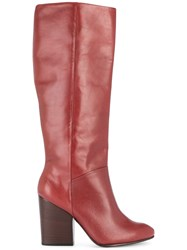 Rachel Comey Knee Length Boots Red