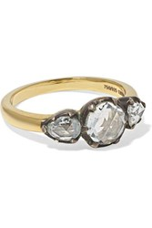 Fred Leighton Collection 18 Karat Gold And Sterling Silver Diamond Ring