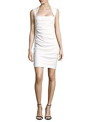 Nicole Miller Solid Sleeveless Sheath Dress White
