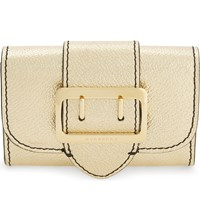 Burberry Chesham Metallic Leather Pouch Gold