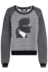 Karl Lagerfeld Cotton Blend Pullover Black