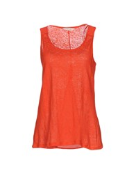 Naf Naf Tank Tops Orange