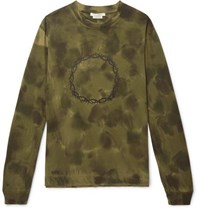Alyx Thorn Tie Dyed Cotton Jersey T Shirt Army Green