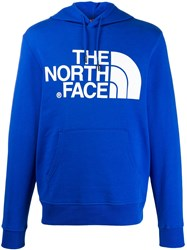 The North Face Logo Print Hoodie Blue