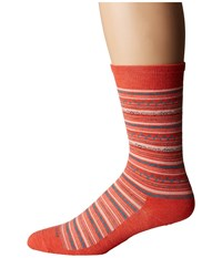 Feetures Santa Fe Ultra Light Crew Sock Coral Crew Cut Socks Shoes