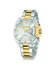 Just Cavalli Just Escape Two Tone Stainless Steel Men's Watch Silver
