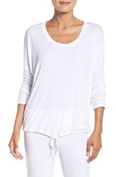 Barefoot Dreamsr Women's Dreams Slouchy Knit Sleep Pullover White