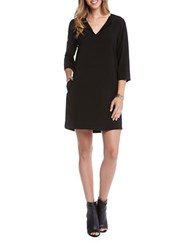 Karen Kane Three Quarter Sleeve Shift Dress Black